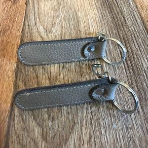 Lot of 2 Tan Keychains Car Keys Holder Handmade
